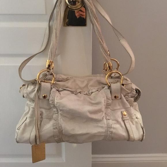 98ca90e83534 Dolce   Gabbana Handbags - DOLCE   GABBANA Large White Leather Purse